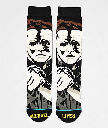 Stance Michael Myers Black Crew Socks