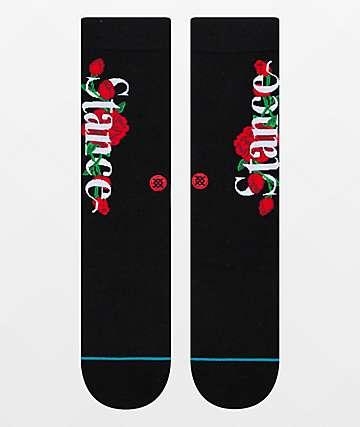 Stance Roses Black Crew Socks