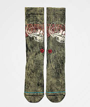 Stance Savage Skull Crew Socks