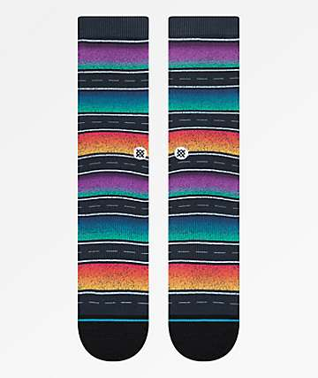 Stance Sierras Black Striped Crew Socks
