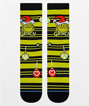 Stance The Grinch Ornament Green & Black Crew Socks