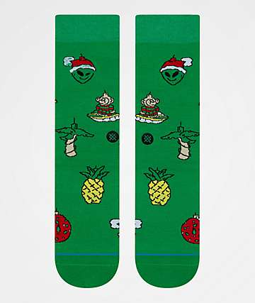 Stance Xmas Ornaments Green Crew Socks