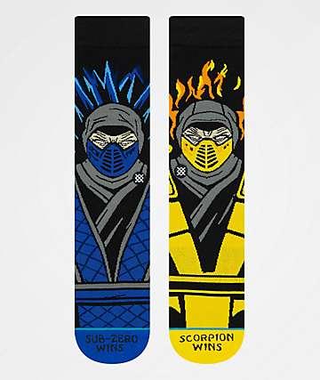 Stance x Mortal Kombat Sub Zero vs. Scorpion Crew Socks