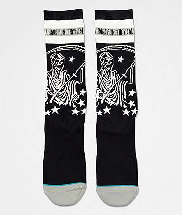 Stance x RXCX Have Fun Black Crew Socks