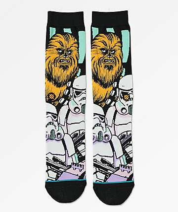 Stance x Star Wars Warped Chewbacca Black Crew Socks