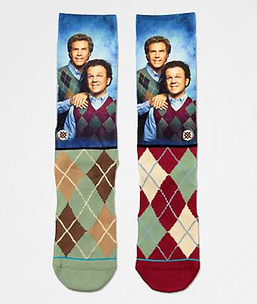Stance x Step Brothers Argyle Crew Socks