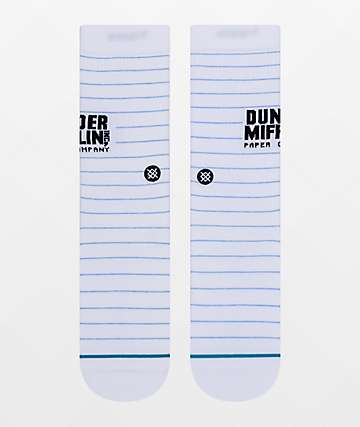 Stance x The Office Dunder Mifflin White Crew Socks