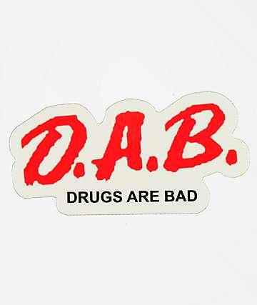 Stickie Bandits D.A.B. White Sticker