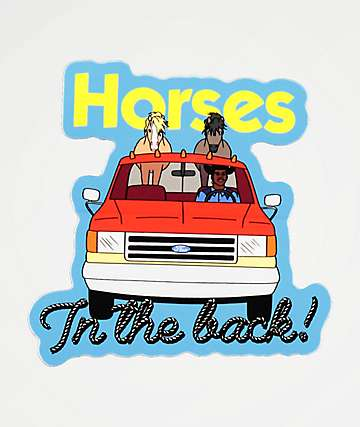 Stickie Bandits Horses Sticker