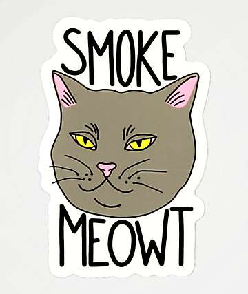 Stickie Bandits Smoke Meowt Sticker