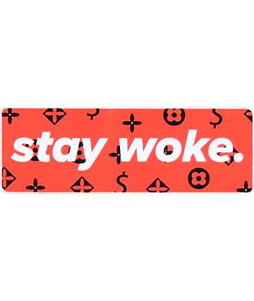 Stickie Bandits Stay Woke LV Sticker