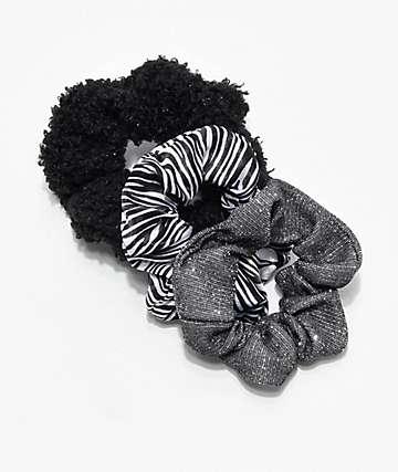 Stone + Locket Dark Zebra paquete de 3 coleteros