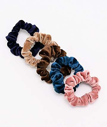 Stone + Locket Mini Velour 6 Pack Scrunchies