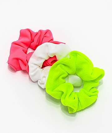 Stone + Locket Neon 80s 3 Pack Scrunchies