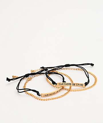 Stone + Locket Partners In Crime Friend Bracelets