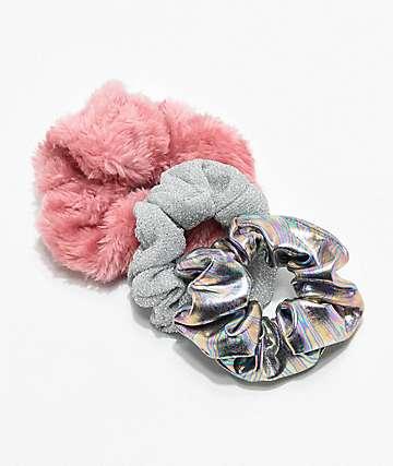 Stone + Locket Pink Bunny paquete de 3 coleteros