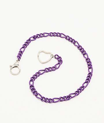 Stone + Locket Purple Matte Wallet Chain