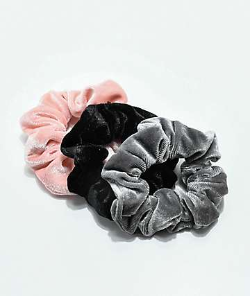 Stone + Locket Velvet Scrunchie 3 Pack