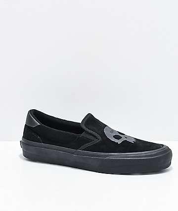 Straye x Zero Ventura Black Slip-On Skate Shoes