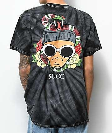 Succ Clout Black Tie Dye T-Shirt
