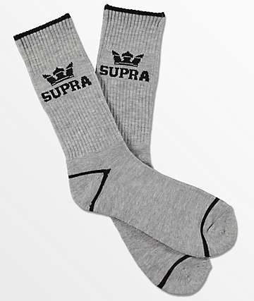 Supra  Crown Grey Crew Socks