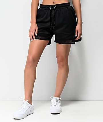 Supra All City shorts negros de cintura elástica