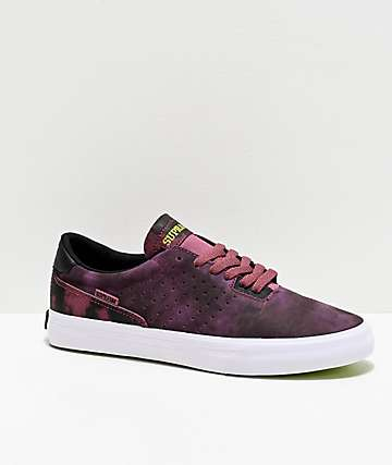 Supra Lizard King Tie Dye & White Skate Shoes