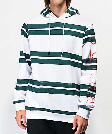 Supra Represent White & Green Stripe Hoodie