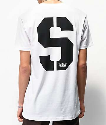Supra SStencil White & Black T-Shirt