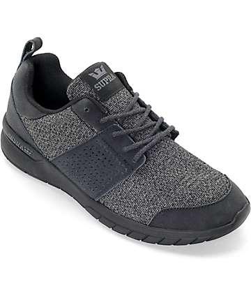 Supra Scissor Charcoal Knit, Black & Nubuck Shoes