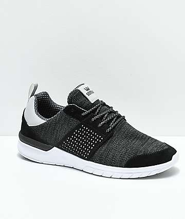 Supra Scissor Dark Grey, Black & White Shoes