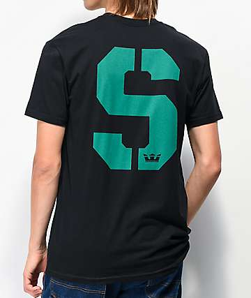 Supra Stencil Black & Teal T-Shirt