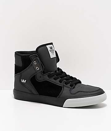 Supra Vaider Black & Light Grey Skate Shoes