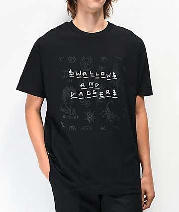 Swallows & Daggers x Ross Hell Black T-Shirt