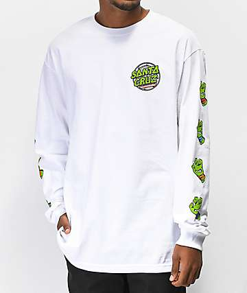 TMNT x Santa Cruz Sewer Dot White Long Sleeve T-Shirt