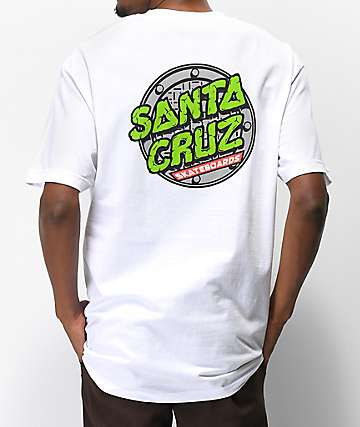 TMNT x Santa Cruz Sewer Dot White T-Shirt