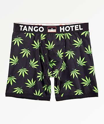 Tango Hotel Grass calzoncillos bóxer negros