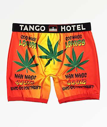 Tango Hotel Man Made Booze Red and Yellow Boxer Briefs