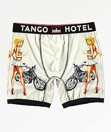Tango Hotel Pin Up White Boxer Briefs