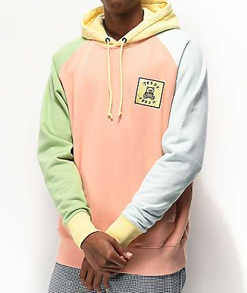 Teddy Fresh Colorblock Natural Hoodie