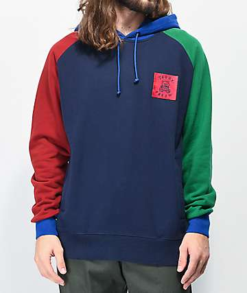 Teddy Fresh Colorblock Navy Hoodie