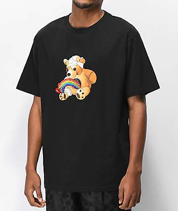 Teddy Fresh Colorful Filth Rainbow Black T-Shirt