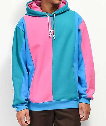 Teddy Fresh Love sudadera con capucha azul y rosa