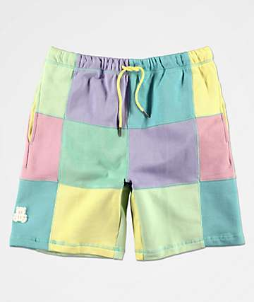 Teddy Fresh Patchwork Sunrise Sweat Shorts