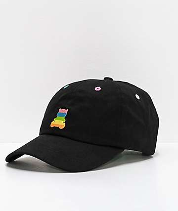 Teddy Fresh Rainbow Bear Black Strapback Hat