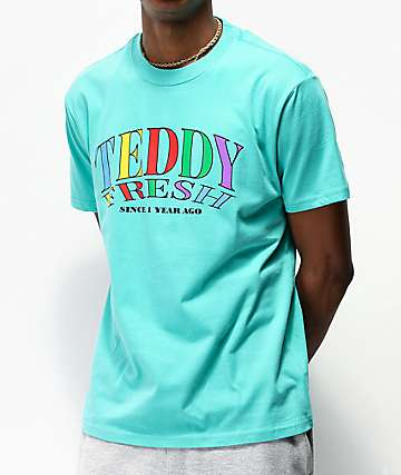 Teddy Fresh Since 1 Year Ago Aqua T-Shirt