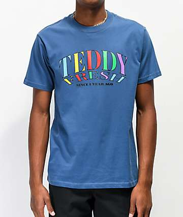 Teddy Fresh Since 1 Year Ago Faded Navy T-Shirt