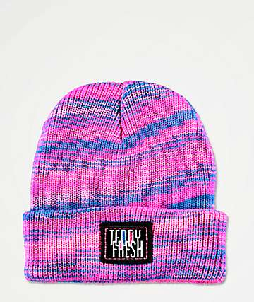 Teddy Fresh Spacedye Pink & Blue Beanie