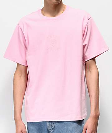 Teddy Fresh Tonal Embroidery Pink T-Shirt