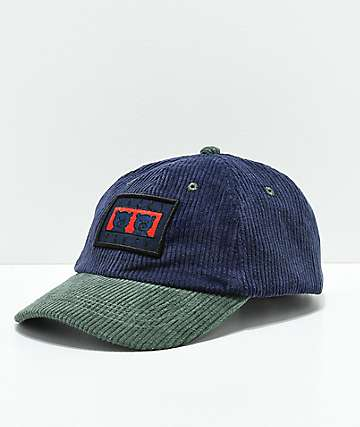 Teddy Fresh Two Teds Blue & Green Corduroy Strapback Hat